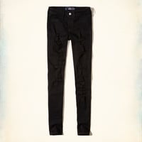 Hollister Shredded Low-Rise Super Skinny Jeans