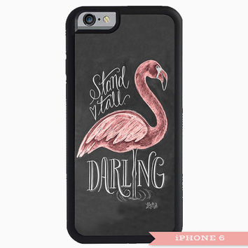 Flamingo Smart Phone Case, iPhone 5/5S case, iPhone 6 Case, Samsung Case, Unique Phone Case, Chalk Art Phone Case