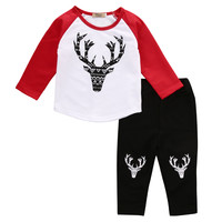 2016 New Boys Clothing Sets Children Casual Clothes Sets Girls Boys Long Sleeve T shirt +Pants Autumn Suits Kids Clothes