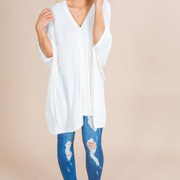 Cozy On Repeat Tunic in Ivory