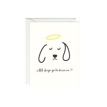 All Dogs Go To Heaven Sympathy Card