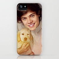 Harry Styles One Direction Labrador Retriever Puppy iPhone Case by Toni Miller | Society6