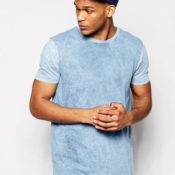 ASOS | ASOS T-Shirt With Acid Wash In Relaxed Skater Fit at ASOS