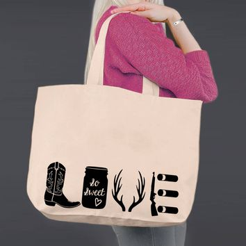 Hunting Love | Personalized Canvas Tote Bag