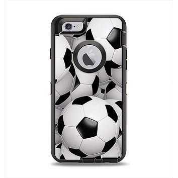 The Soccer Ball Overlay Apple iPhone 6 Otterbox Defender Case Skin Set