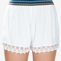 Bella Embroidered Waist Short