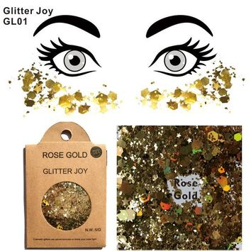 GL01 one pack of  Rose Gold Glitter Face and Body Makeup of Cosmetic Grade to Sparkle at Party