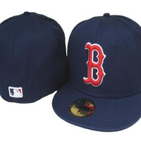 Boston Red Sox New Era MLB Authentic Collection 59FIFTY Cap Blue-Red_White