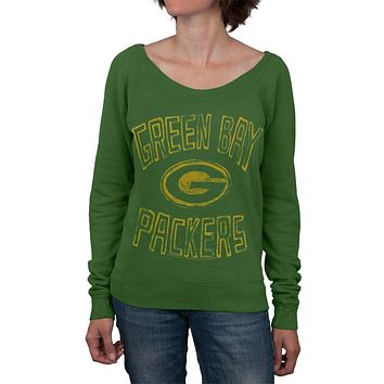 Green Bay Packers - Logo Off Shoulder Juniors Sweatshirt