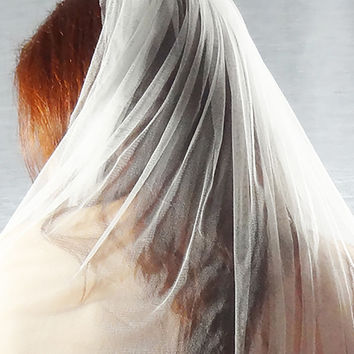 Silk Tulle Veil - French