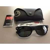 Cheap RAY-BAN WAYFARER SUNGLASSES SUEDE BLACK *NEW* RAY BAN AUTHENTIC GENUINE outlet