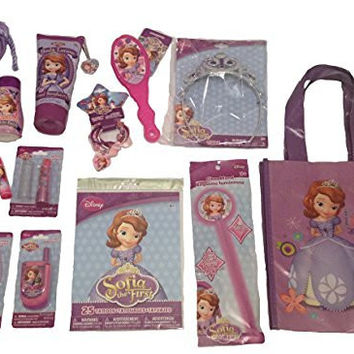 Disney Princess Sofia The First 15+ Piece Bundle Bag of Glamour Gift Set