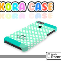 Polka dot on Mint pattern - Iphone 4 cover , Iphone 4s cover , Iphone 5 cover, iphone case , polka dot iphone case , mint case