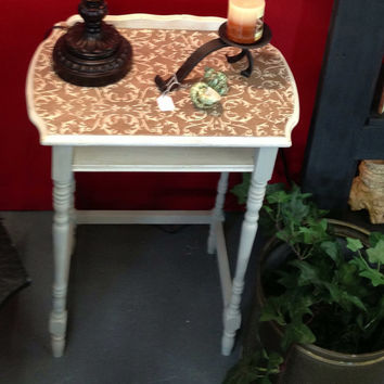 Furniture, table, stand, antique, painted furniture, chalk painted furniture, phone stand, shabby chic