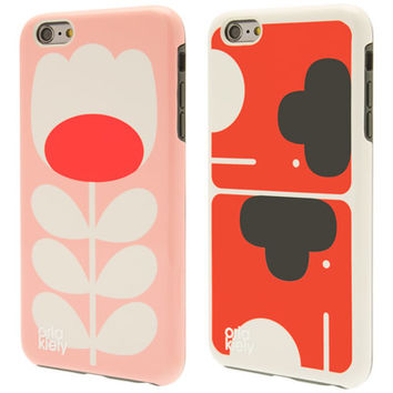 Orla Kiely | USA | accessories | Technology | Elephant & Tulip Stem iPhone 6+ Case Twin Pack (0VENSTE205) | pink
