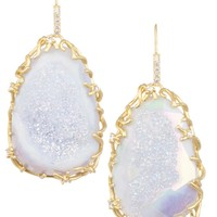 Stone Nest Drop Earrings in Iridescent Drusy - Kendra Scott LUXE