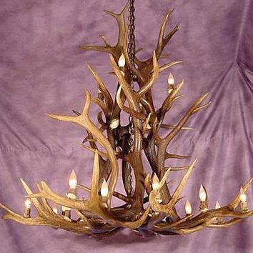 MEDIUM ELK ANTLER CASCADING CHANDELIER