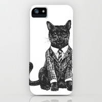 Fancy Cat iPhone & iPod Case by The Achille Project
