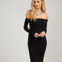 Off the Shoulder Bodycon Dress - Large