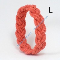 Orange Narrow Sailor Knot Bracelet Large | MysticKnotwork - Jewelry on ArtFire