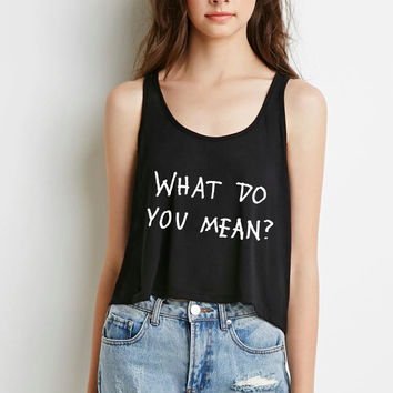 "Justin Bieber ""What Do You Mean?"" Boxy, Cropped Tank Top"