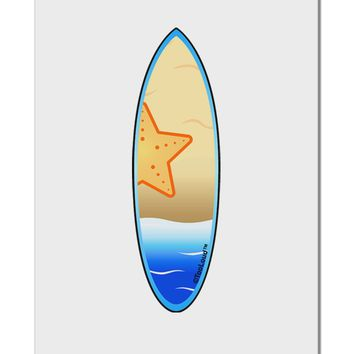 """Starfish Surfboard Aluminum 8 x 12"""" Sign by TooLoud"""
