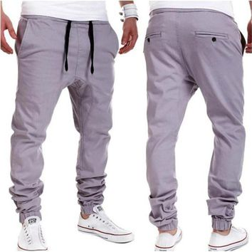 Mens Street Style Harem Pants Casual pants Drop Crotch Joggers