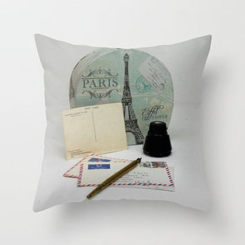 Love Letters From Paris 2 Throw Pillow by Stacy Frett