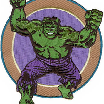 The Hulk Iron-On Patch Round Figure