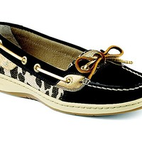 Angelfish Leopard Shimmer Slip-on Boat Shoe