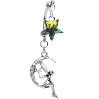 Star Wish Fairy Double Mount Belly Ring MADE WITH SWAROVSKI ELEMENTS | Body Candy Body Jewelry