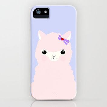 Alpaca in Love V 2 iPhone Case by Apricot | Society6