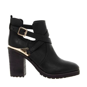 Miss KG Bonjour Cut Out Heeled Boots