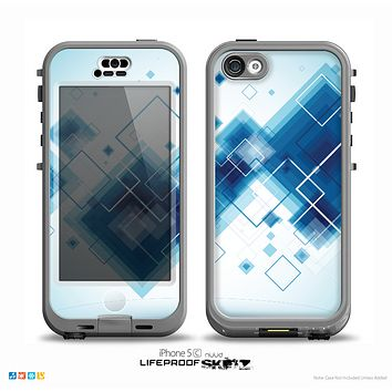 The Blue Levitating Squares Skin for the iPhone 5c nüüd LifeProof Case