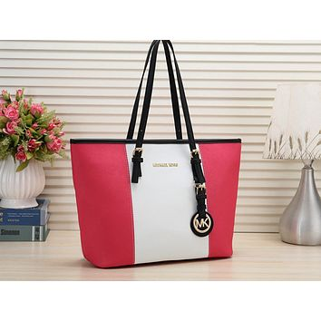 MK Fashion Ladies Coloured Single Shoulder Bag Shopping Bag Roes red