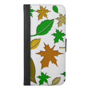 pretty autumn leaves iPhone 6/6s plus wallet case