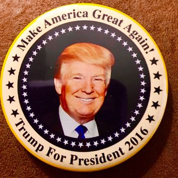 Donald Trump 2016 Make America Great Again Button