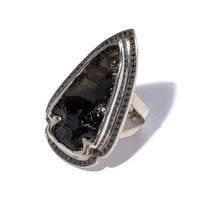 Obsidian Sapphire Ring 3 - Size 6