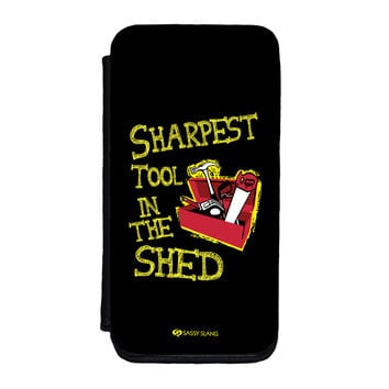 Sassy - Sharpest Tool in the Shed #10098 Premium Faux PU Leather Case for iPhone 5C by Sassy Slang