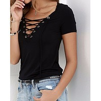 Women Sexy V-Neck Blouse