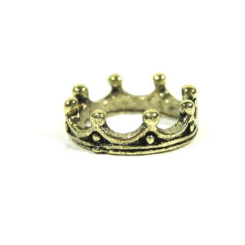 Crown Ring Size 4 Royal Queen King Ruler Tiara Gold Tone RG04 Cocktail Fashion Jewelry