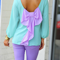 I Love You So Blouse: Mint/Lavendar | Hope's