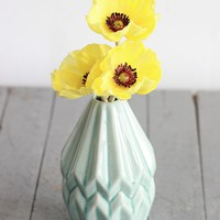 """Mini Real Touch Poppy in Yellow - 9.5"""" Tall"""