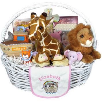 Personalized Noah's Ark Baby Gift Basket