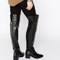 ASOS KING FISHER Leather Over The Knee Boots at asos.com