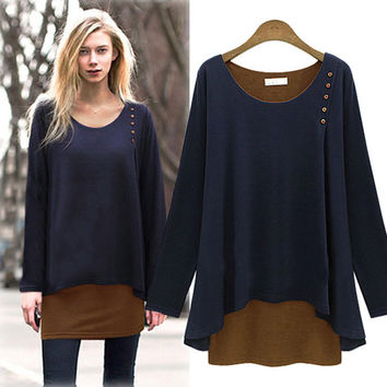 Winter Women's Fashion Long Sleeve T-shirts Bottoming Shirt [6338643140]