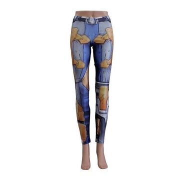 Vintage Blue Armor Leggings