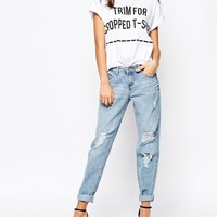 New Look Ripped Boyfriend Jeans