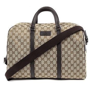 dec29b7f98660 Gucci Unisex Classic Luggage Orginal GG Canvas Carry On Duffle Travel Bag  44916