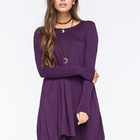 Full Tilt A Line Dress Purple  In Sizes